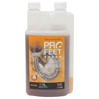 NAF Pro Feet liquid - tekutý krmný doplněk pro zdravá kopyta, láhev s dávkovačem 1000ml