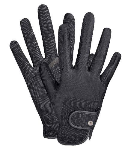 Letní jezdecké rukavice Metropolitan černé