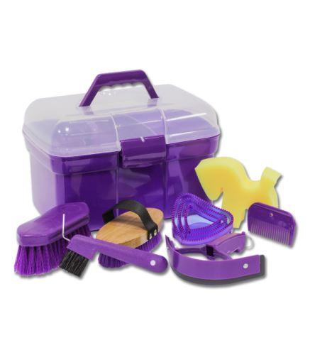 Dětský box a sada čištění fialová
