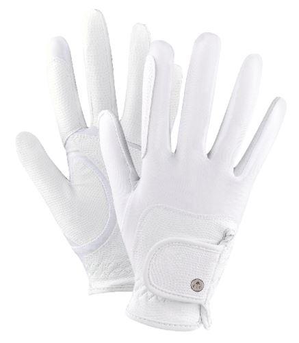 Letní jezdecké rukavice Metropolitan bílé