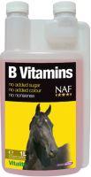 NAF B vitamins, vitamíny skupiny B pro soustředěnost a vitalitu závodních koní, láhev s dávkovačem 1000ml
