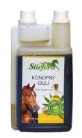 Stiefel Konopný olej pro srst, kůži a imunitní systém, lisovaný za studena, láhev s dávkovačem 1 l