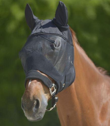 Maska na oči proti hmyzu s ušima černá