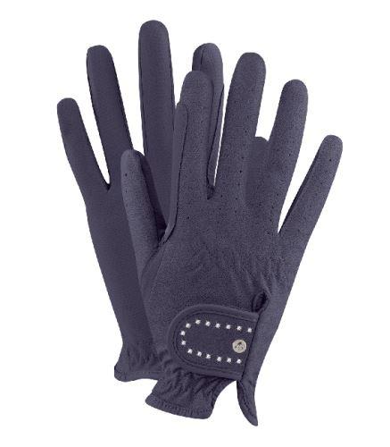Jezdecké rukavice s kamínky modré