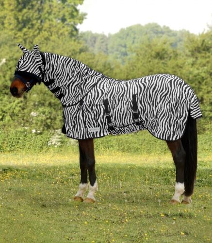 Proti - muší deka ZEBRA s pásem pod břichem