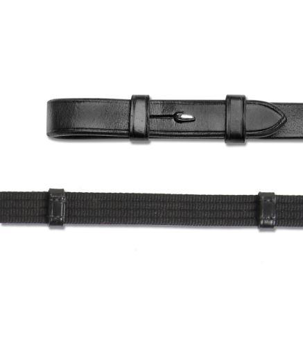 Plátěné otěže X-Line s háčky černé