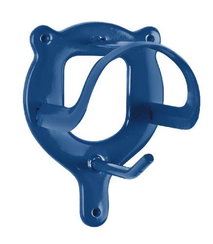 Kovový držák na uzdečku světle modrý
